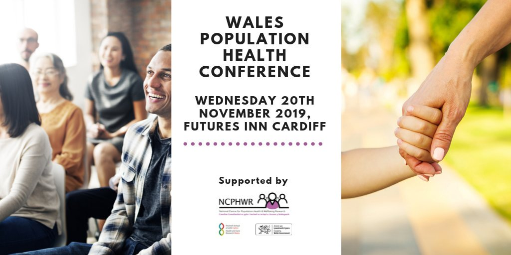@NCPHWR_Wales are hosting the Wales Population Health Conference in #Cardiff on the 20th November.  For more info. on speakers and how to book your free place visit   https:// bit.ly/32yXWDp      #healthresearch #datalinkage #Wales #Pophealth2019 <br>http://pic.twitter.com/IIPazHZewi