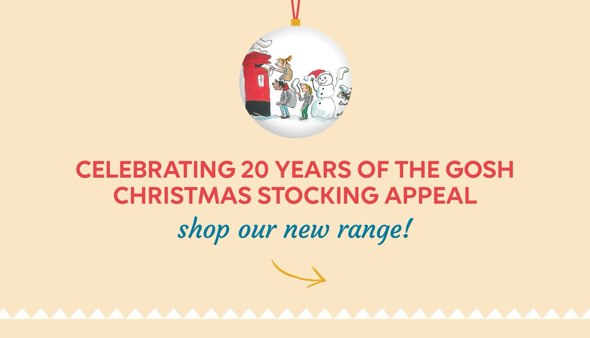 It's (nearly) Chriiistmas! To mark 20 years of the GOSH Christmas Stocking Appeal, we've created an exclusive, limited-edition Christmas range featuring the beautiful illustrations Tony Ross originally created for our annual Christmas appeal. Take a look! bit.ly/34QrkGN