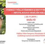 Image for the Tweet beginning: #Kevytyrittäjyys'info nyt myös venäjäksi. Paikka