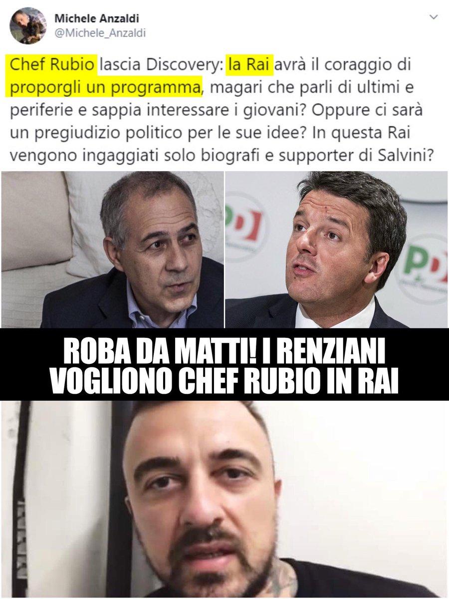 I renziani vogliono Chef Rubio in Rai, pagato da tutti gli Italiani.  Ma ci sono o ci fanno???