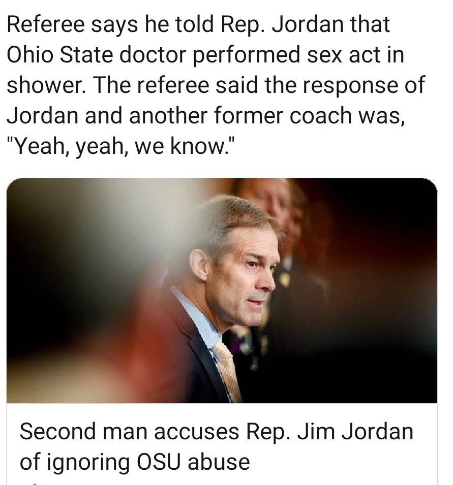 @Jim_Jordan @realDonaldTrump @RepAdamSchiff #JimJordanKnew  #JimJordanIsAPedophileEnabler  #InvestigateJimJordan #JimJordanCoverUpCrimes  #JimJordanBetrayedWrestlers  #JimJordanMustResign