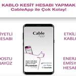Image for the Tweet beginning: Üyemiz Prysmian Group'un geliştirdiği CableApp,