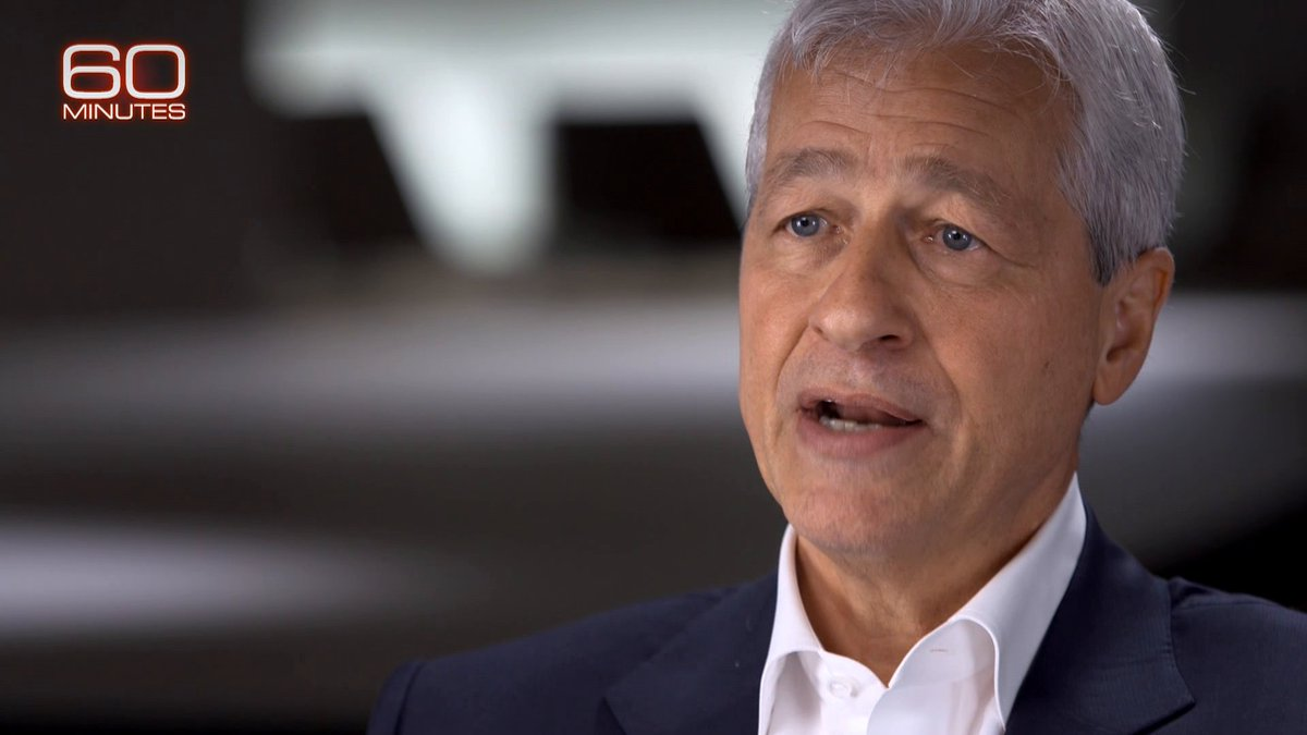 """Last year, you were paid $31 million. Too high?""   JPMorgan Chase Chairman and CEO Jamie Dimon says he thinks the wealth gap in America is a ""huge problem,"" but he passed the buck when asked about his salary. https://cbsn.ws/2Q7Pdpk"