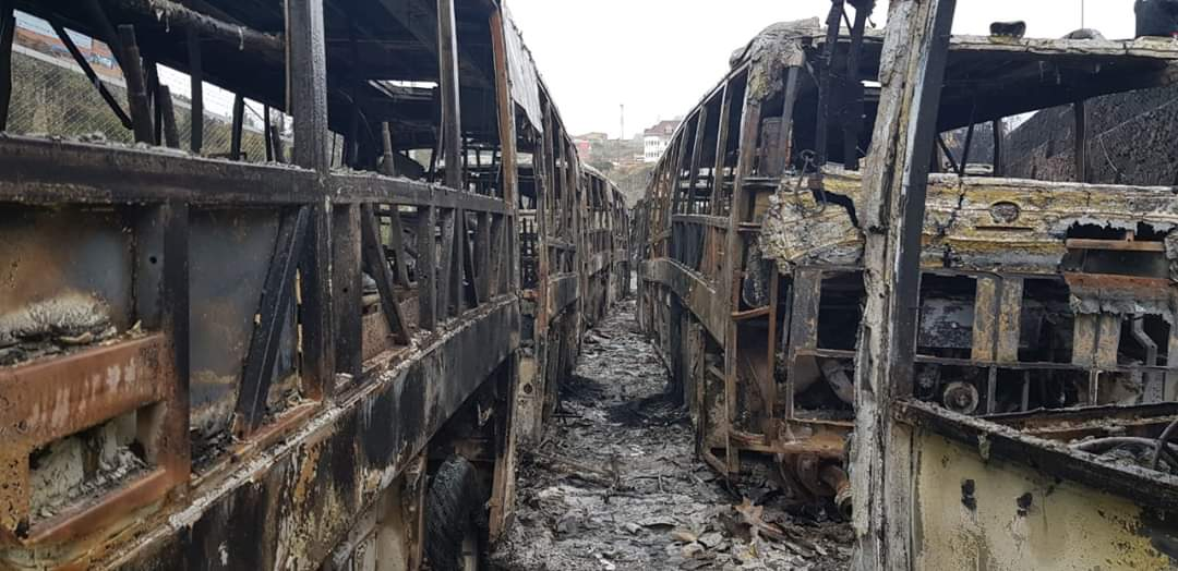 @evoespueblo Here is proof of the evil you bring unto Bolivia after we rejected you.  You brought the Pumas (bus)to us now destroyed by your hoards. SHAME #SOSBolivia <br>http://pic.twitter.com/aXsw7cOsqE