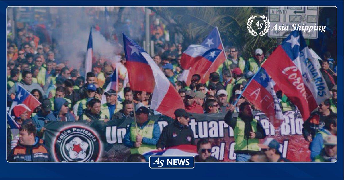 Trabajadores portuarios de Chile anuncian paro general para el martes 12 de noviembre https://buff.ly/2pbznPo  #AsiaShipping #LatinAmericaSpecialistpic.twitter.com/8CB10kHv1j