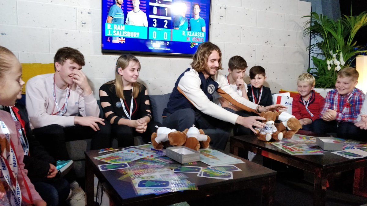 GOSH families had an amazing time at the #NittoATPFinals yesterday, made all the more exciting by a visit from @StefTsitsipas before his opening match. Thank you so much Nitto for your amazing hospitality! 🎾🏆🙌