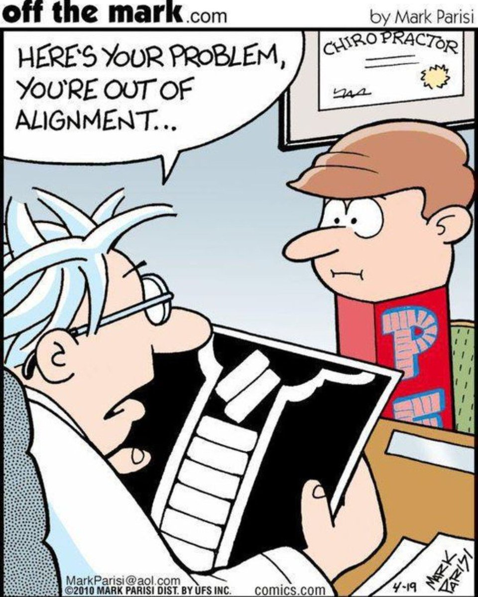 Start your week off right, get an adjustment today! 😀