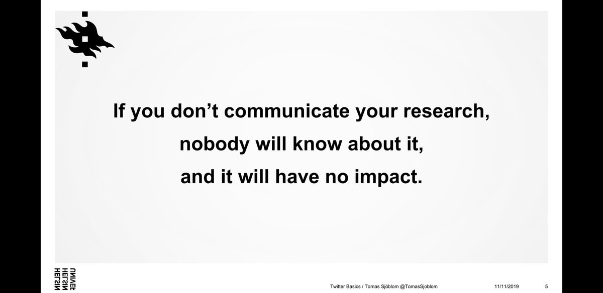 If you don't communicate your research, nobody will know about it and it will have no impact. We agree #scicomm #research