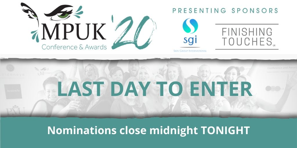 Nominations close TONIGHT at MIDNIGHT! This is your last chance to part of the #MPUK20 Awards so don't miss out  Enter Here>> http://ow.ly/cwar50x5Ygp . . . #micropigmentationuk #micropigmentationukawards #mpuk #makeup #PMUtraining  #awardnominationspic.twitter.com/XGcFU8eN9Z