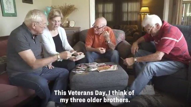 All three of my brothers served in the military, so I know the responsibility we have to our veterans, and the unique burdens that military families carry. On #VeteransDay, I'm thinking of all our veterans and their families. I'm grateful for your service.