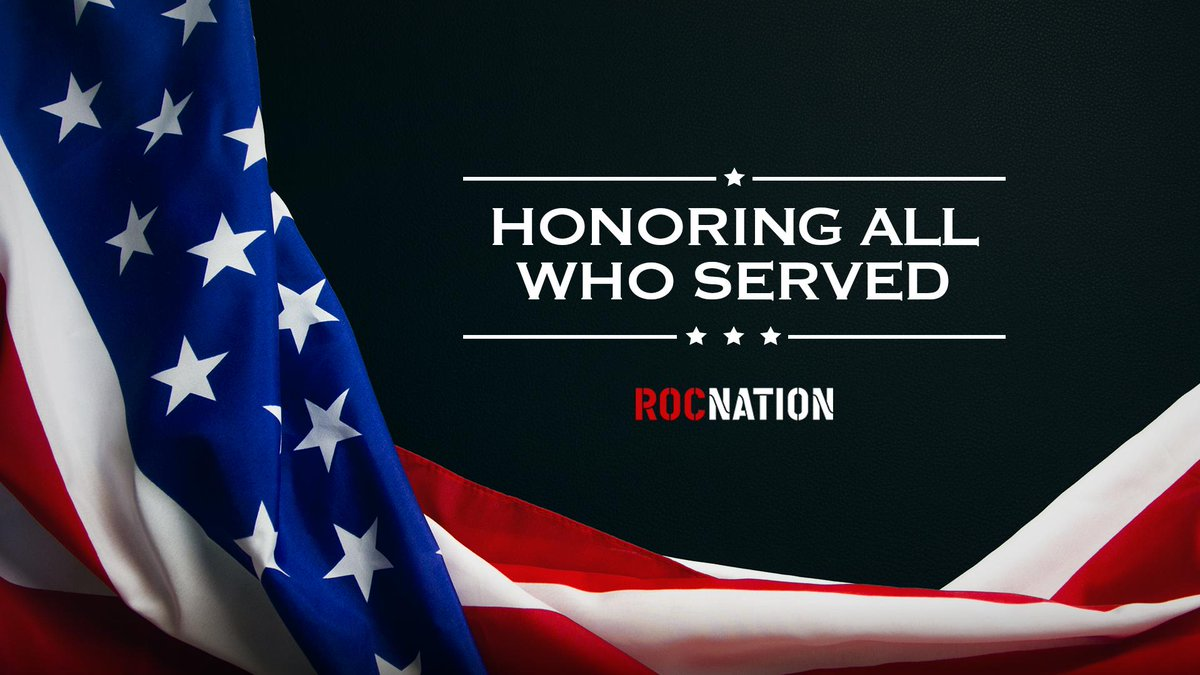RT @RocNation: 🇺🇸Thank you to all who have served our country. Happy Veterans Day! 🇺🇸 https://t.co/ERVjGqhvw4
