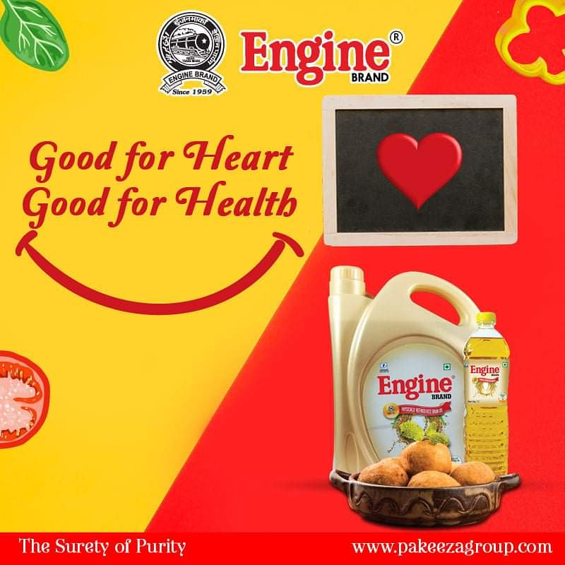 Good for Heart. Good for Healthhttp://pakeezagroup.com/#loveforfood #spicyfood #healthyfood #foodporn #foodie #tastyfood #sidedish #favorites #lovefood #foodstagram #instafood #foodtime  #EngineBrand #EngineMasalaPapad #SuretyofPurity #healthyheart #EngineBrandMustardoil