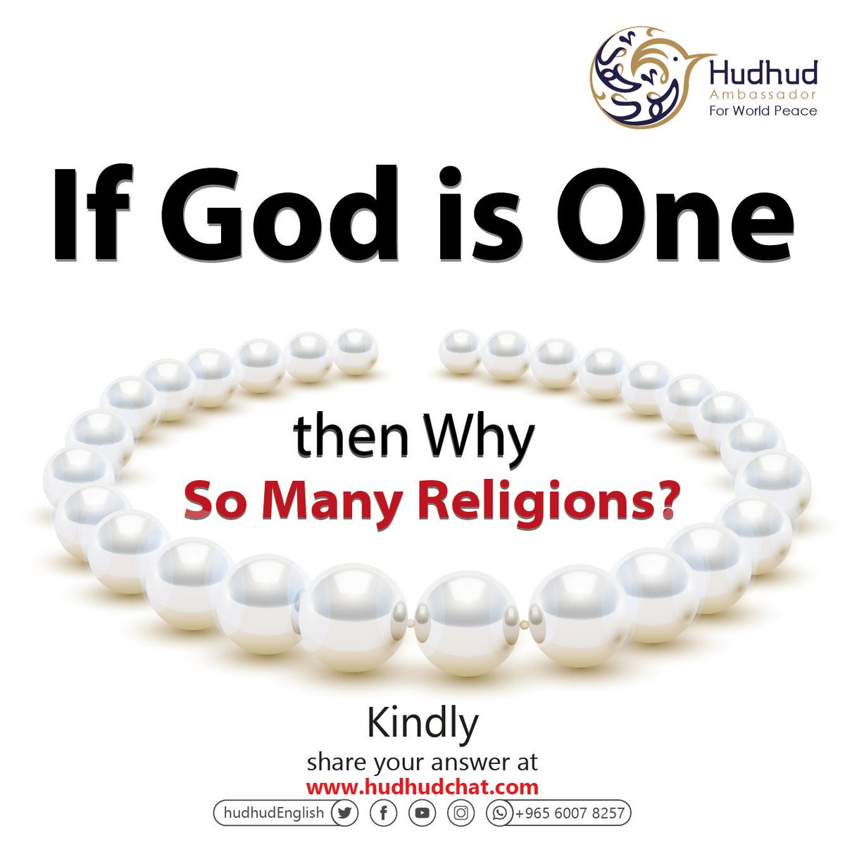 If #God is One, then Why Are There So Many #Religions?  Kindly, share your answer at;  https:// chat.hudhud.info       #Hudhudchat #HitUWithThat1B<br>http://pic.twitter.com/5SQcj0FQAg