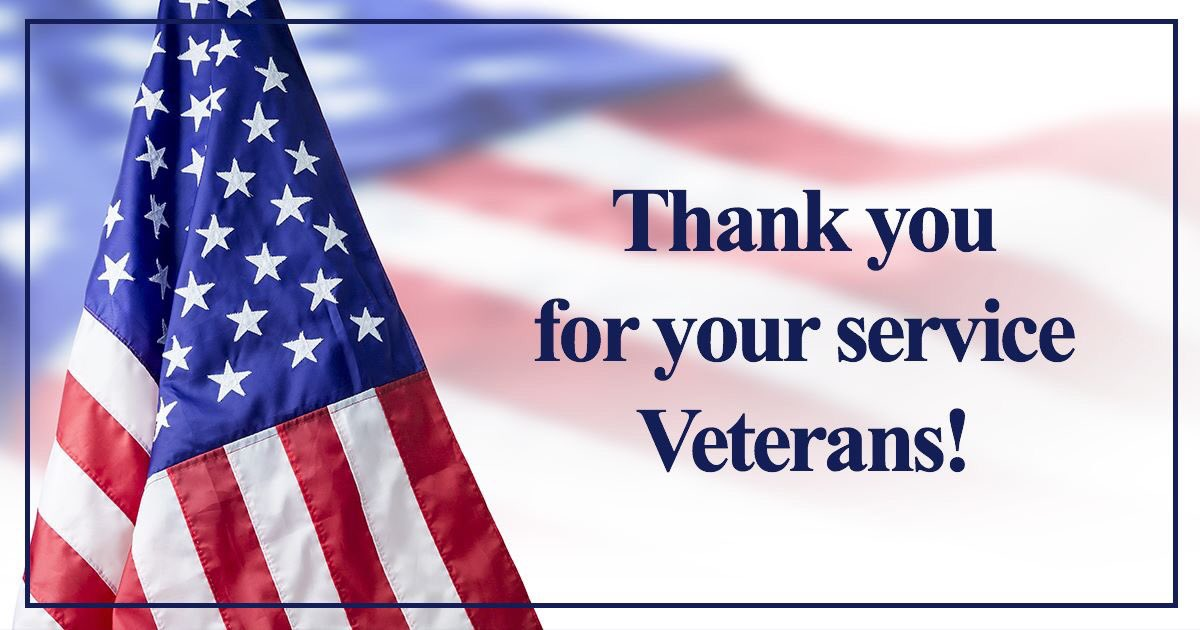 On #VeteransDay, we honor all who have served in the United States Armed Forces. These brave men and women put their lives on the line to protect our freedom and our way of life. I extend my gratitude to all veterans and their families today and everyday.