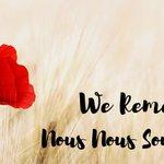 Image for the Tweet beginning: Aujourd'hui, nous nous souvenons. De votre
