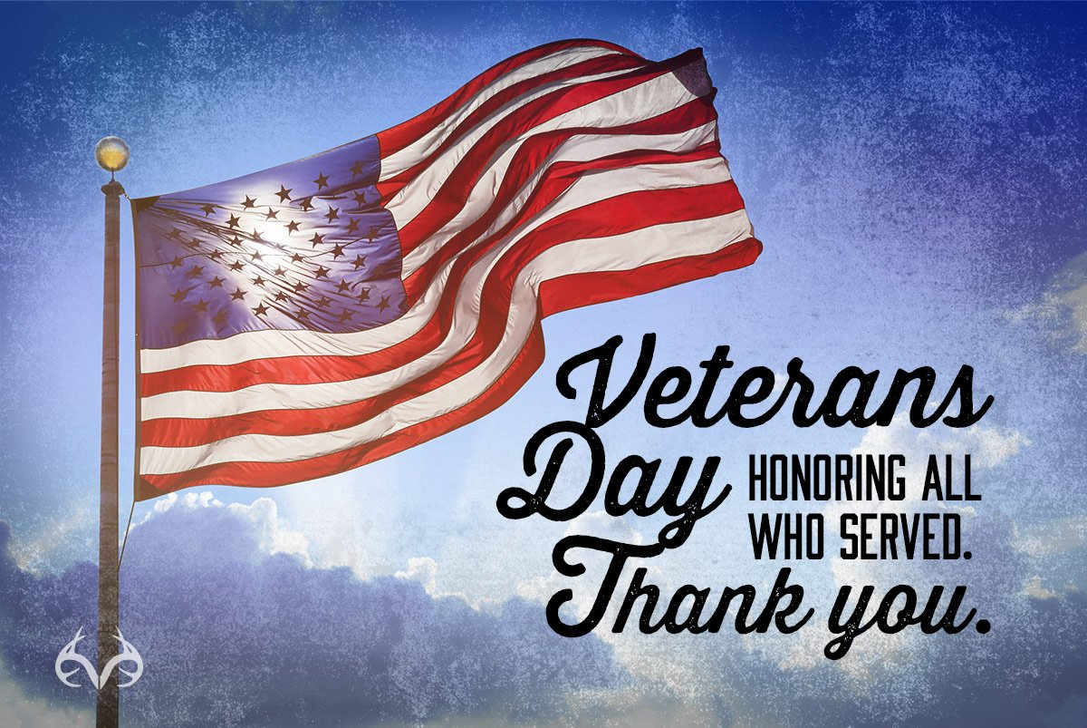 Thank you to our brave Veterans and their families. #Realtree #VeteransDay