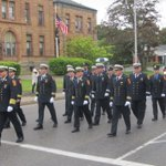 Image for the Tweet beginning: Brockton Firefighters will be marching