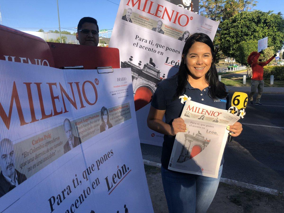 ¡Buenos días! ☀️ ¿Ya salieron por su periódico 🗞#Milenio? Tenemos información importante para ti y hoy salimos a las calles a repartir las noticias. @milenio_leon @miguelpuertolas @tweetdejulian