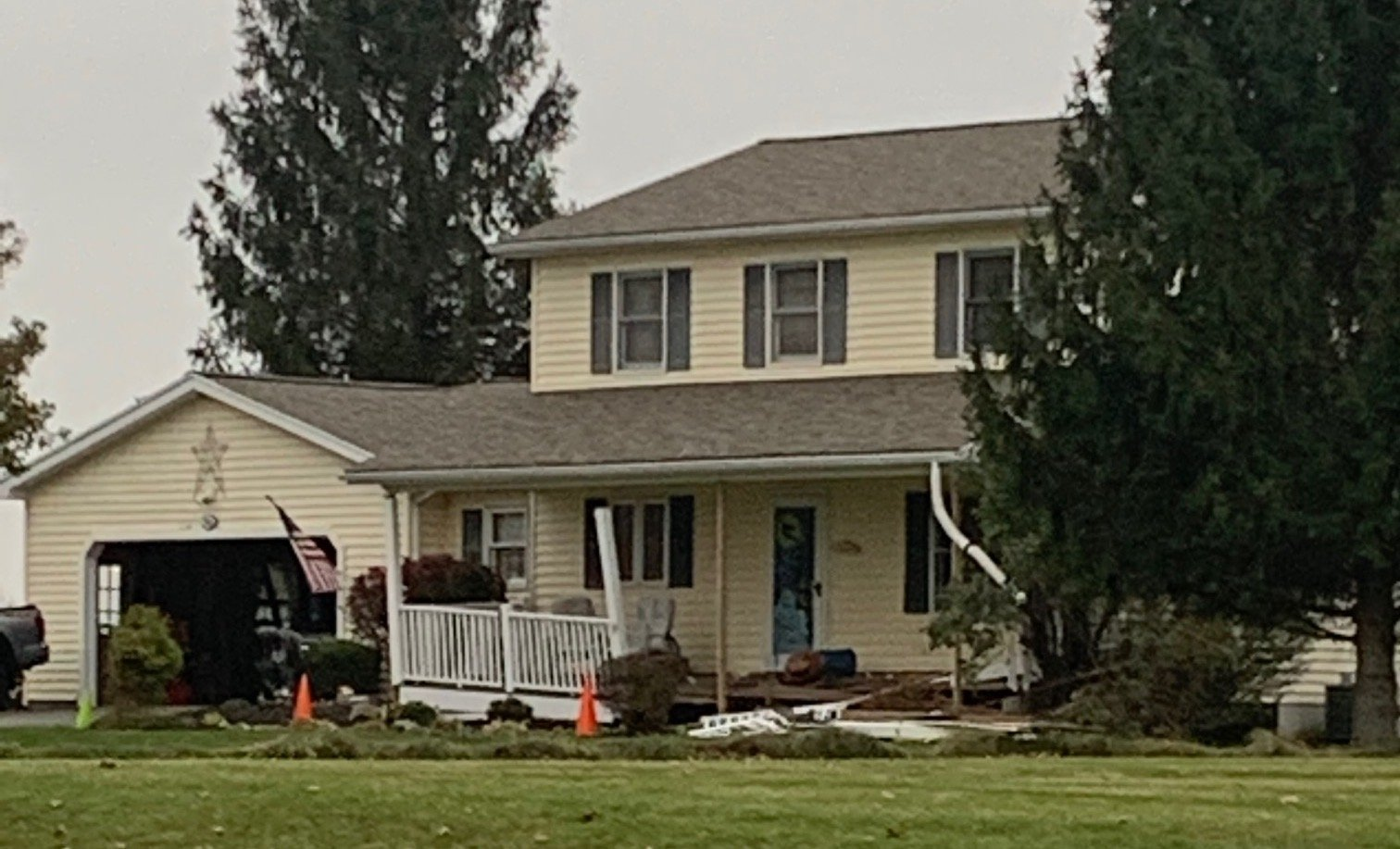 Hopewell home damaged after drunk driver crashes into it