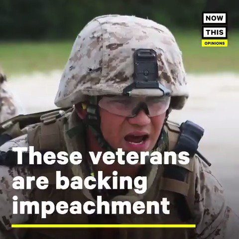 'I didn't have an expiration date on that oath, and neither do the people of Congress.'  — These veterans are taking a stand for impeachment and the Constitution #VeteransDay