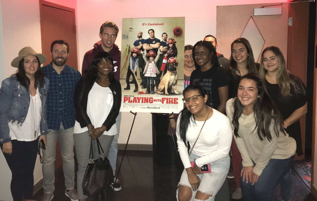 Last week the Miami HEAT staff hit the movies to get a first look at @PlayingWFire before it's release. 👀  Check out #PlayingWithFireMovie and give us your review! 📽
