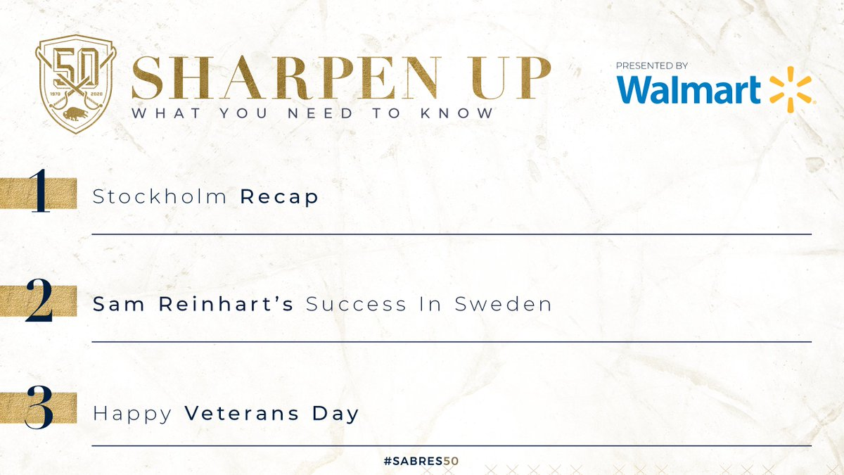 The team returns to practice on Wednesday this week. What you need to know today in #SharpenUp: bufsabres.co/PtsiHT