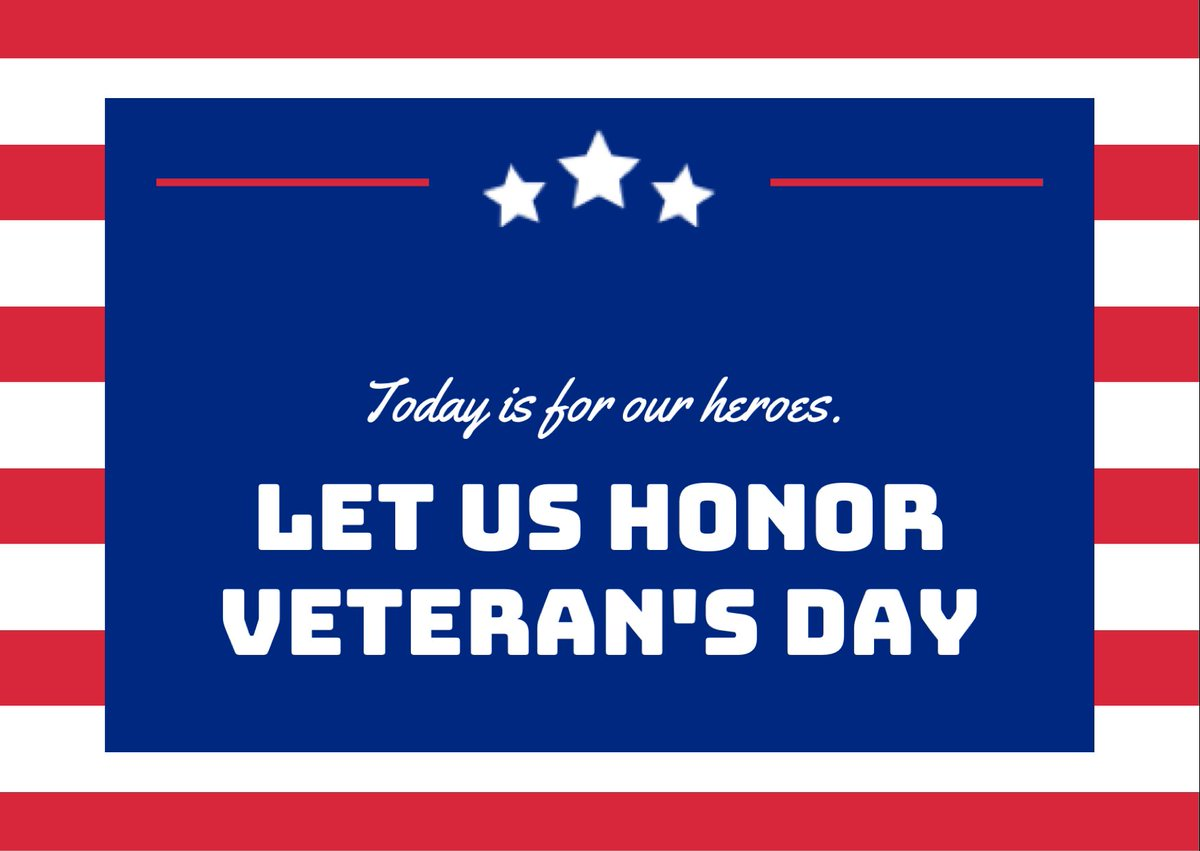 Today we honor the men and women who have served our country's military, in times of war and in times of peace. Let us all remember their sacrifices, as we enjoy the freedoms enshrined in our Constitution and protected by generations of veterans. Happy Veterans Day! #ncga