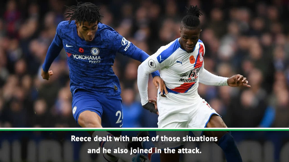 Reece James had Wilfried Zaha in his pocket at the weekend and Frank Lampard couldnt be happier with him 🤗