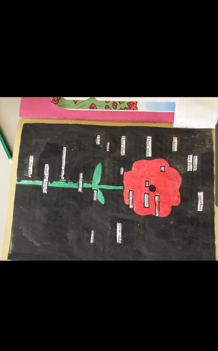 Primary have been celebrating Remembrance Day today making wreaths and Art Work to recognise the fallen. #LestWeForget #RemembranceDay