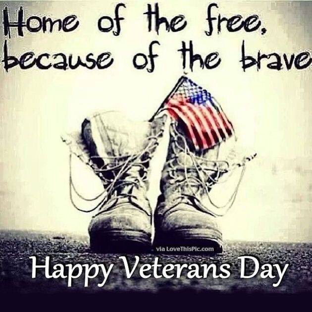 Today, we honor and thank all who have worn the uniform–and remember those who never came home.  We must show our gratitude by caring for our veterans abroad and at home.  I wish everyone a safe and happy Veterans Day and send a heartfelt thanks to all who have served.