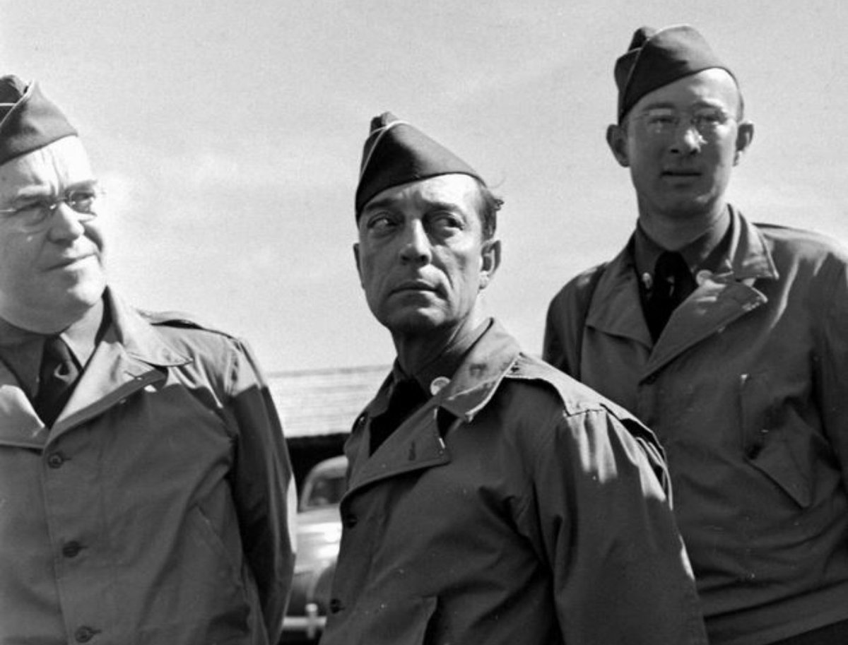 #BusterKeaton, a Private in the 1st Evacuation Regiment of the California State Guard. #WWII #VeteransDay  #BusterLove🍀