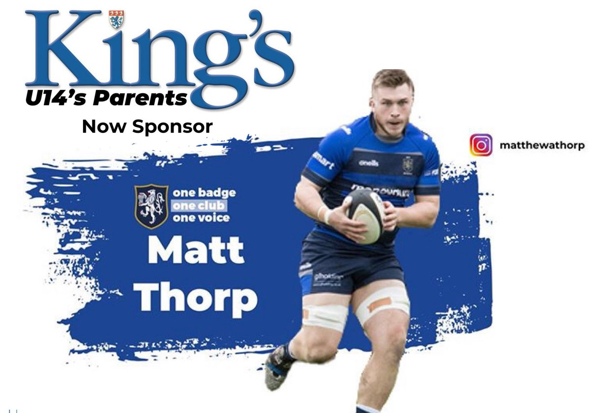 test Twitter Media - SPONSORSHIP NEWS!!! Matt Thorp is now Sponsored by @KingsMacRugby under 14's Parents!!! #maccrugby https://t.co/b50G1wet9Z