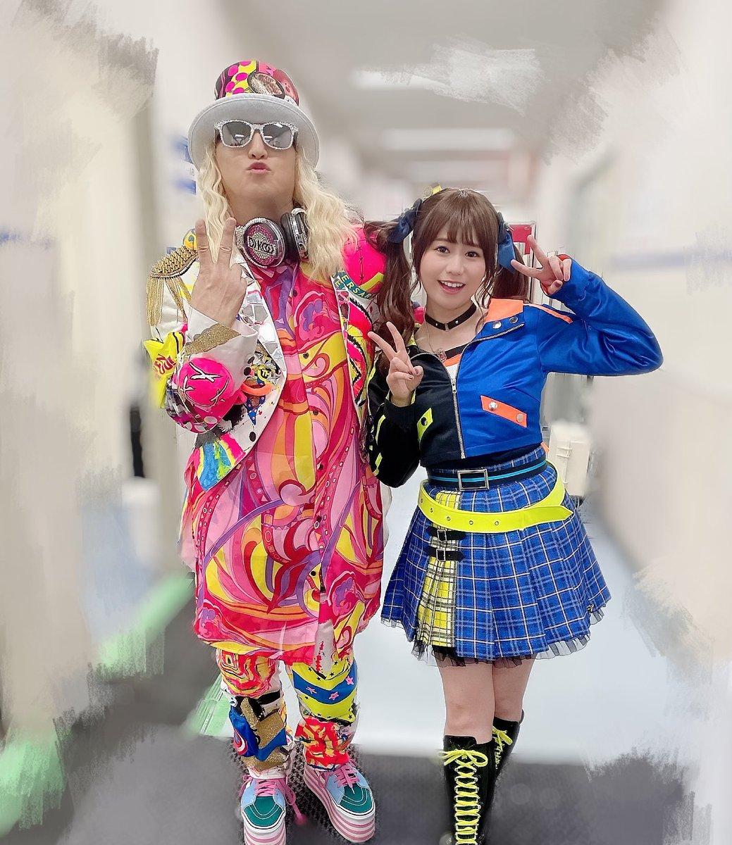 DJ KOOさんと写真撮っていただきました☺️KOOさんとのYes party time!!とってもとっても高まりましたし最KOO〜って思いました…☺️🍀🍀ただでさえ楽しい曲だというのにもっともっと楽しくなってしまって✨すごかったです…!🕺#imas_cg