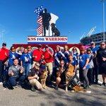 Image for the Tweet beginning: Team @k9sforwarriors ready for Jacksonville's