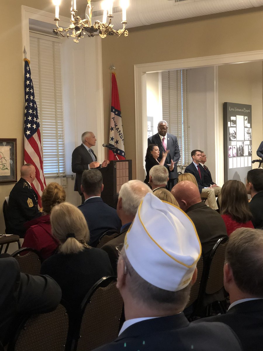 Honored to be with Veterans today in Little Rock. My brothers and sisters in uniform.
