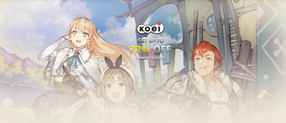 Great titles from @KoeiTecmoUS are up to 72% off on D2D! The sale ends tomorrow, so check out these amazing games soon! #Nioh #WarriorsOrochi #WarriorsAllStars #AtelierRorona #AtelierTotori #AtelierMeruru #Sales #gamedeals