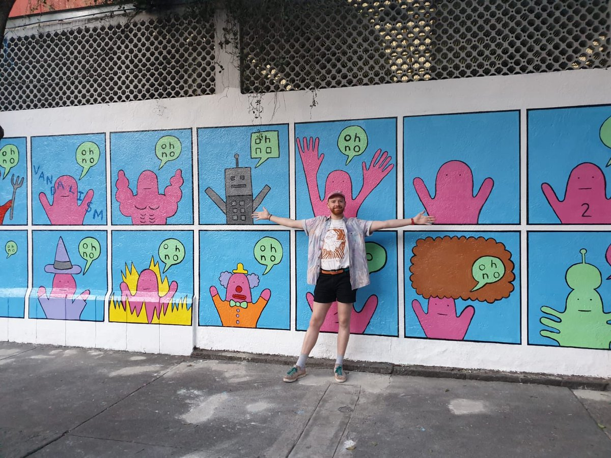 I made a mural in Mexico City! 101 Chihuahua, Roma Norte @pictoline