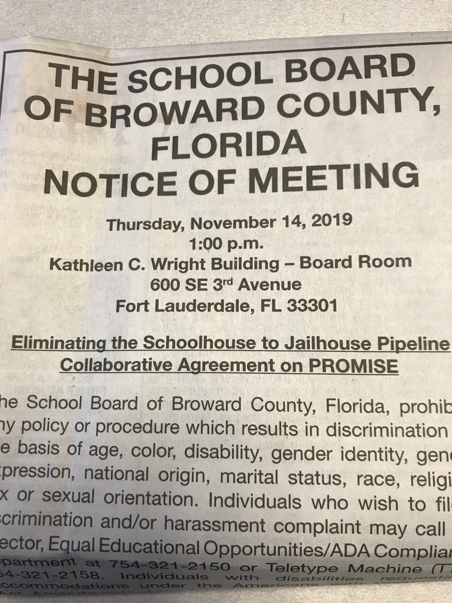 What @browardschools calls PROMISE, most would call child endangerment & neglect. Rather than spin up another disinformation campaign, sowing the seeds of division in our community, focus on better engagement with key stakeholders and better outcomes for our kids.