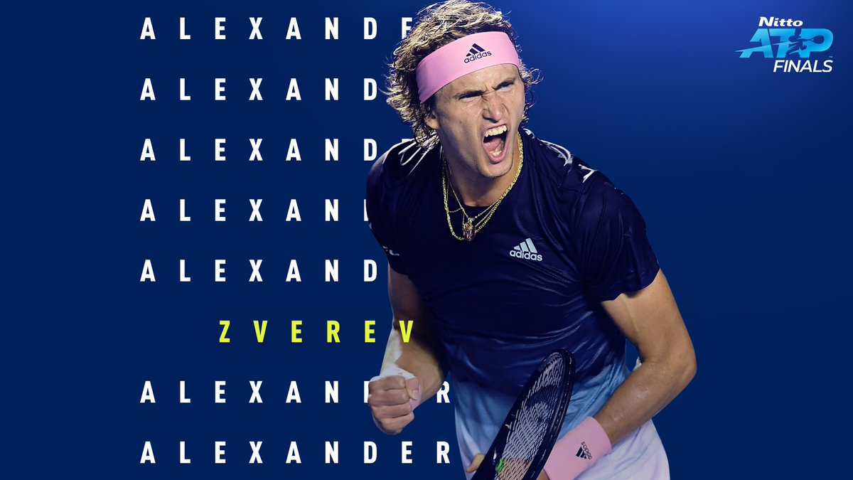 THE CHAMPION TAKES CHARGE 👏  @AlexZverev defeats @RafaelNadal 6-2 6-4 in their opening Group Andre Agassi match. #NittoATPFinals