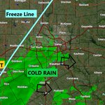 Image for the Tweet beginning: 3:45pm: FREEZE line getting closer