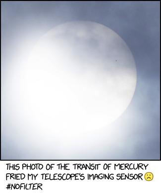 Transit of Mercury xkcd.com/2227/ m.xkcd.com/2227/