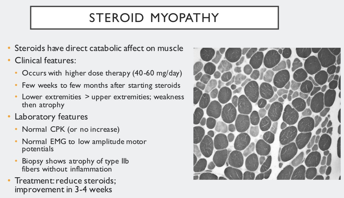 Steroid myopathy ck can you stay on steroids all year round