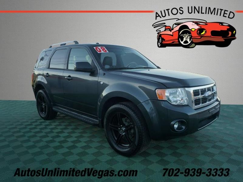 Designed to deliver superior performance and driving enjoyment, this 2008 Ford Escape is ready for you to drive home. Learn More: http://ow.ly/J9rA30pKVz1 #AutosUnlimitedLasVegas #cars #usedcars #LasVegas #NV