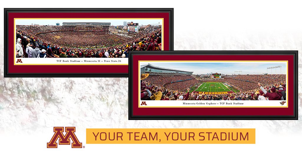 Commemorate the weekend's football victory with these one-of-a-kind prints from our partner at Blakeway Worldwide Panoramas! #SkiUMah #RowTheBoat #Gophers #PSUvsMINN http://ow.ly/kYaa50x8an3  @panoramascom
