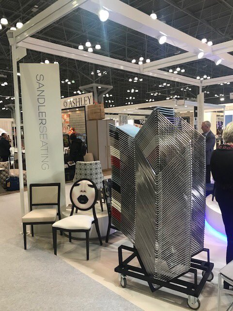 We're having a great time at #BDNY2019! Here's a sneak peek of our booth. Have you had a chance to stop by booth 3339 yet? We would love to meet you!   #SandlerSeating #NYC