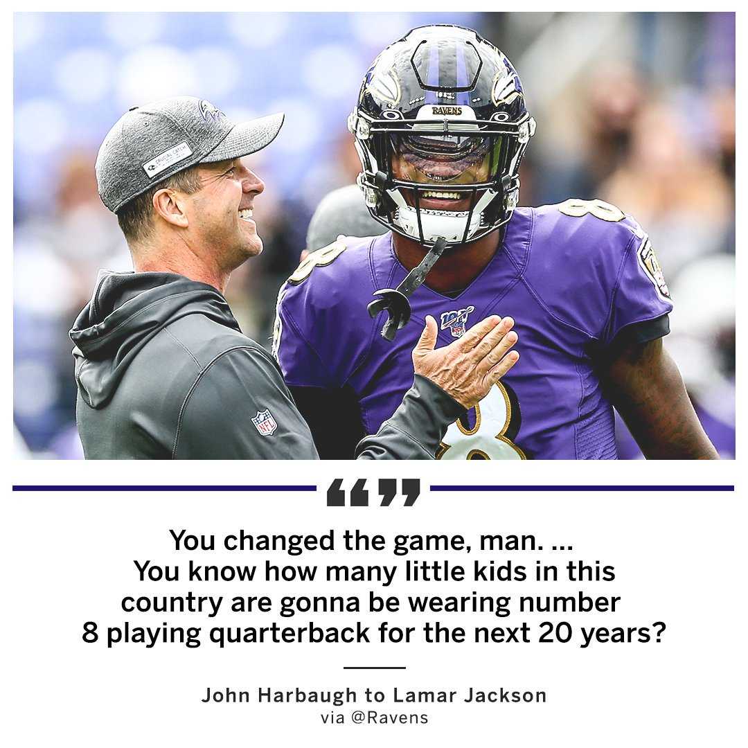 John Harbaugh says Lamar is shaping the NFL's future 💪