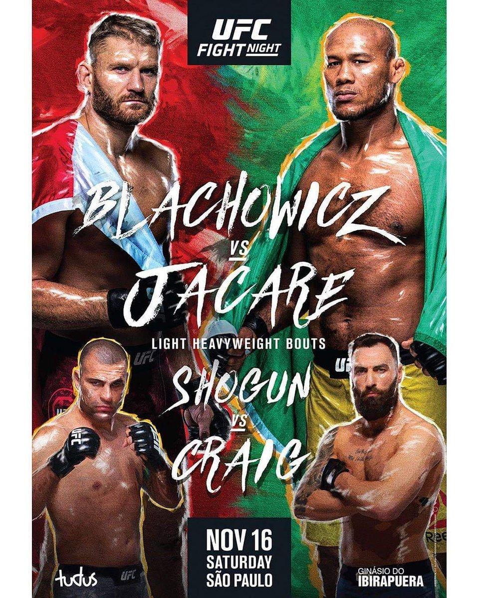 El UFC vuelve este sábado con #UFCBrasil Blackhowicz vs. Jacare, además Shogun vs. Craig, Oliveira vs. Gordon y más. Sábado, desde Paraíso Brasil por Fox Sports.
