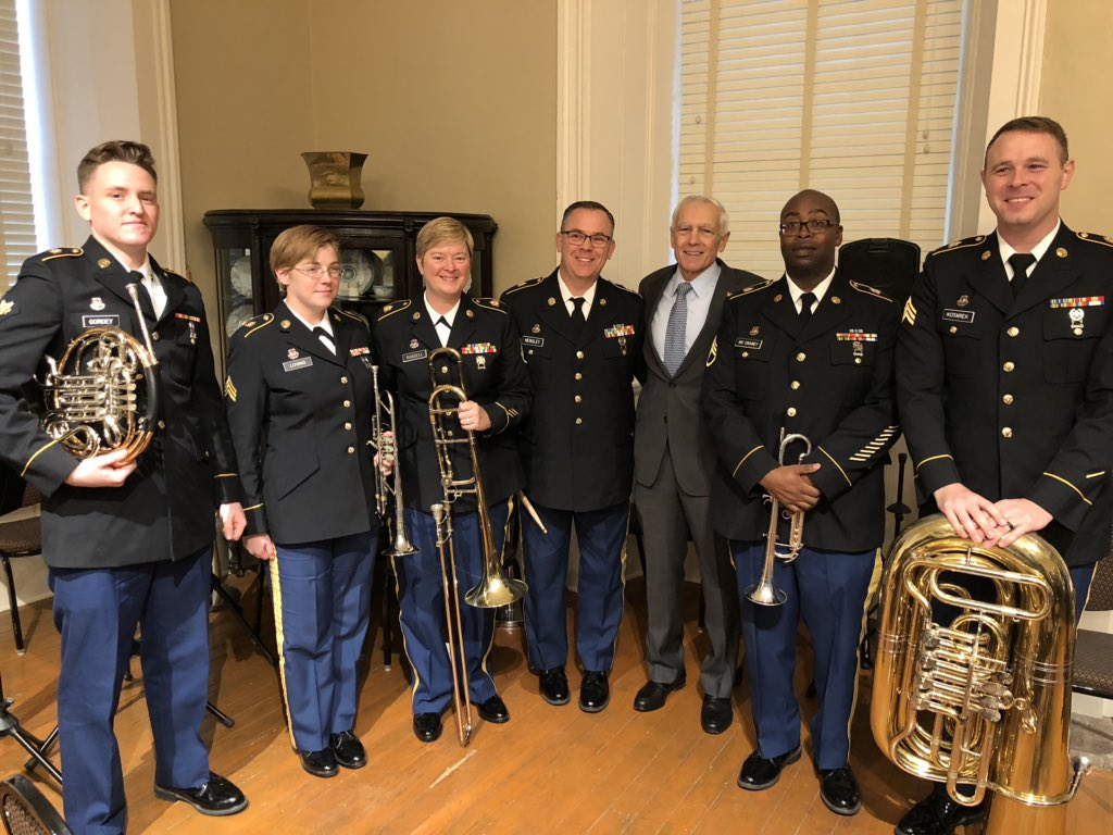 Thank you to Bravo 5 of the 106 Army band. Great to be with you today as we celebrate Veteran's Day.
