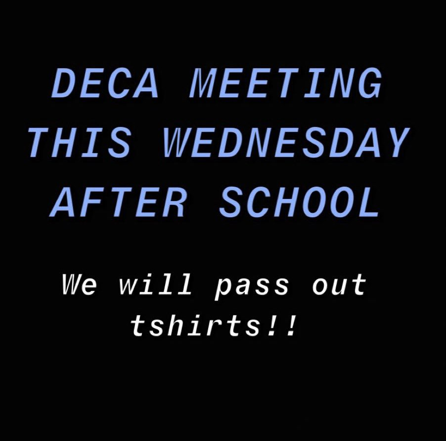 come to our meeting this wednesday!!