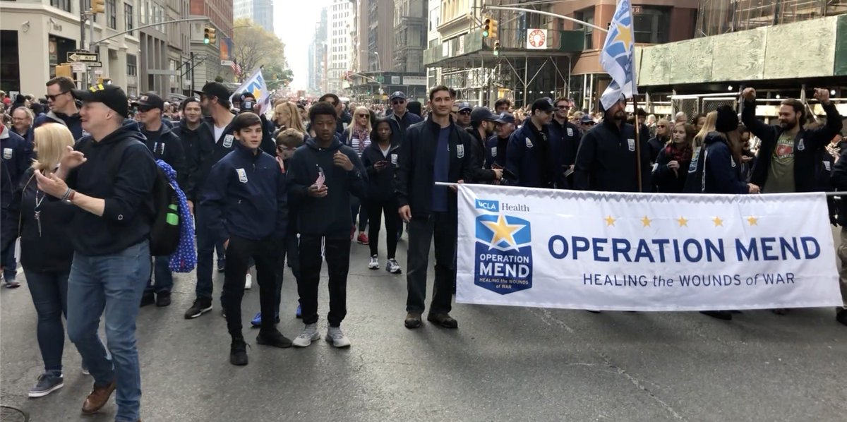 Great day marching with the heroes of @Operation_Mend #VeteransDayParade #NYC @UCLAHealth